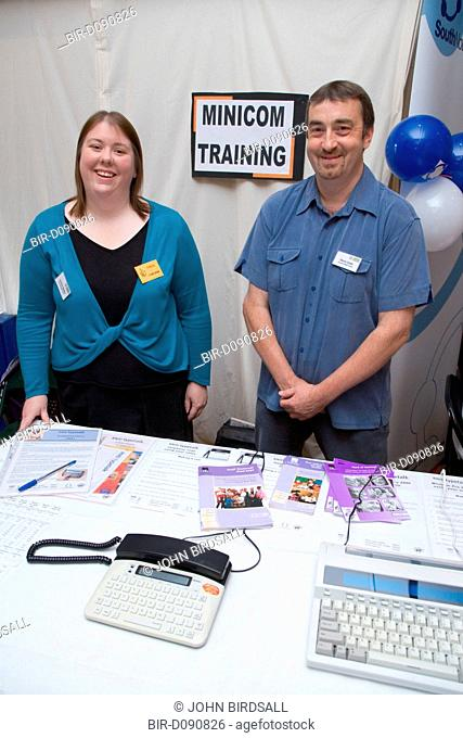 Trainers at stand at City of Nottinghams Deaf Awareness Day, June 2006
