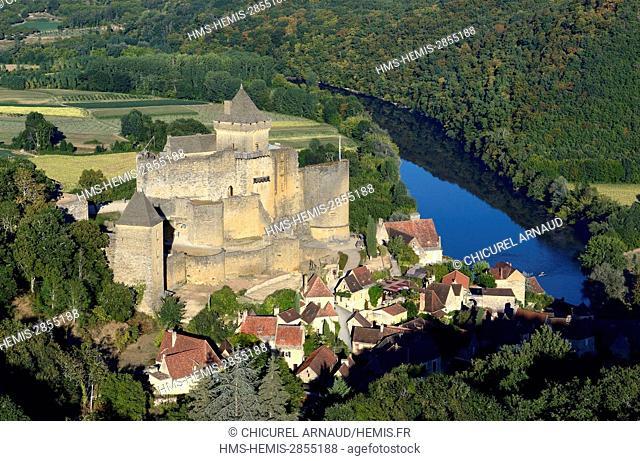 France, Dordogne, Castelnaud la Chapelle, labeled Les Plus Beaux Villages de France (The Most Beautiful Villages of France), Perigord Noir (Black Perigord)