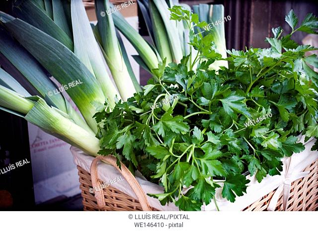 Parsley, leeks