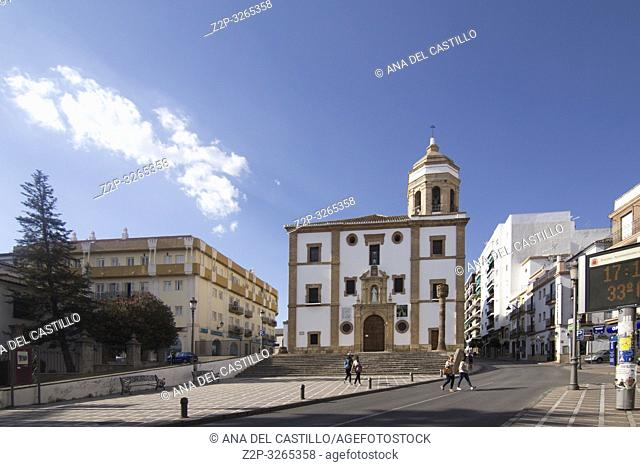 Iglesia de la Merced, church in Ronda on October 9, 2017, Andalusia, Spain
