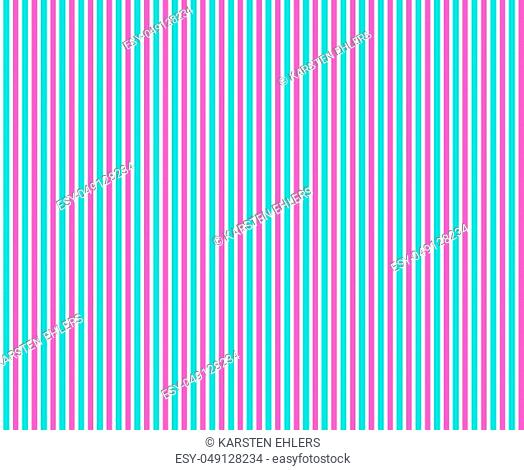 Vertical seamless stripes with turquoise and pink colors on white background