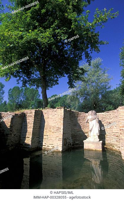 Dion village, archaeological site, Isis sanctuary  Aphrodite statue model  Mount Olympus, Macedonia Central, Greece