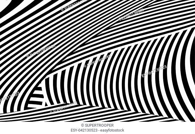 Zebra Lines Design with Black and White Stripes Vector, Stripes Fashion Texture, Zebra Print