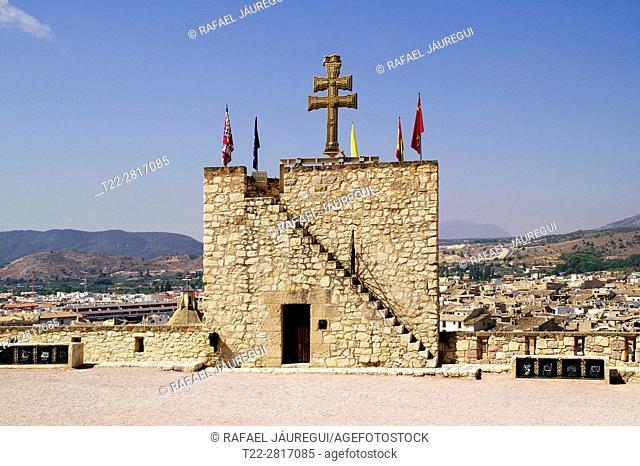 Caravaca de la Cruz (Murcia) Spain. Stone Cross (Veracruz) from The Basilica of the Blessed Mother and Vera Cruz