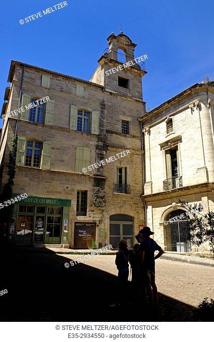 The historic Maison des metiers d'art in the center of Pézenas, France