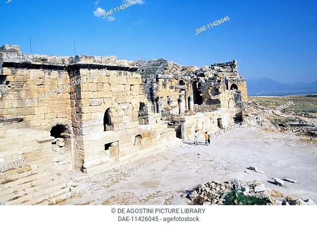 Entrance to the theatre, Hierapolis-Pamukkale (Unesco World Heritage List, 1988), Phrygia, Turkey. Roman civilisation, 2nd century AD