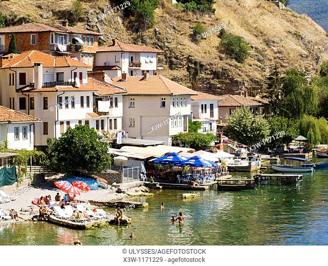 europe, macedonia, lake ohrid, ohrid, kaneo