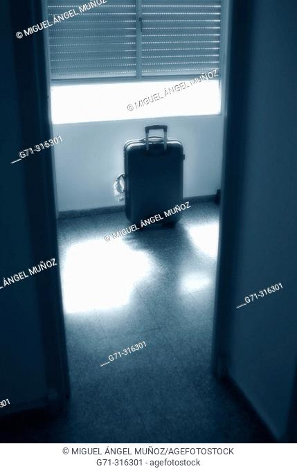suitcase in a room