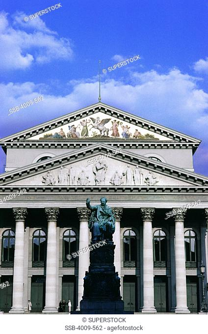 Facade of an opera house, National Theater, Munich, Bavaria, Germany