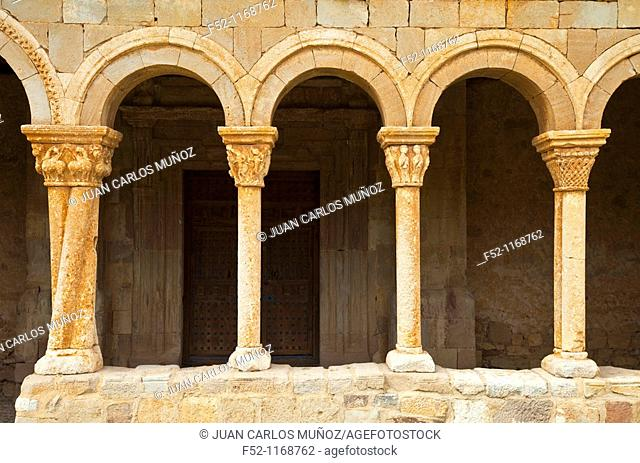 Gallery of the Romanesque Church of San Pedro (12th century), Caracena, Soria province, Castilla-Leon, Spain