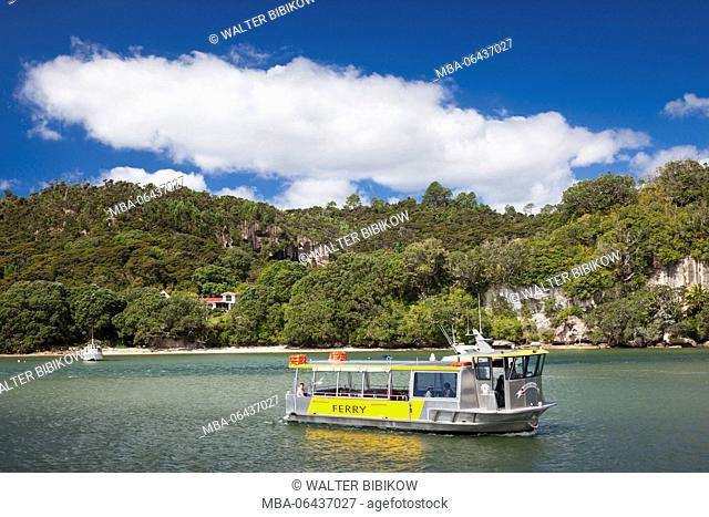 New Zealand, North Island, Coromandel Peninsula, Whitianga, ferry landing, Cooks Beach