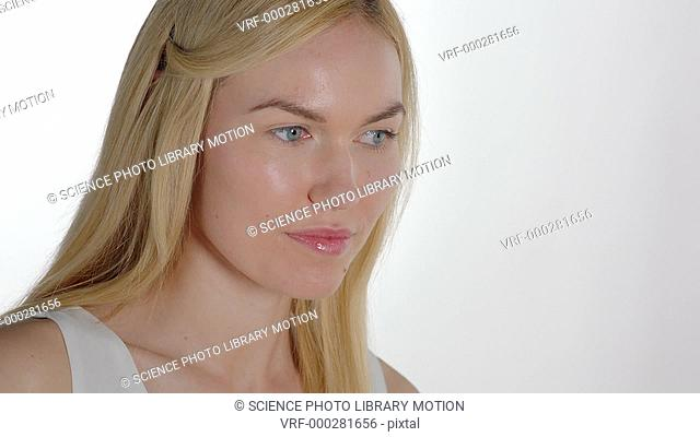 Woman pouting towards the camera