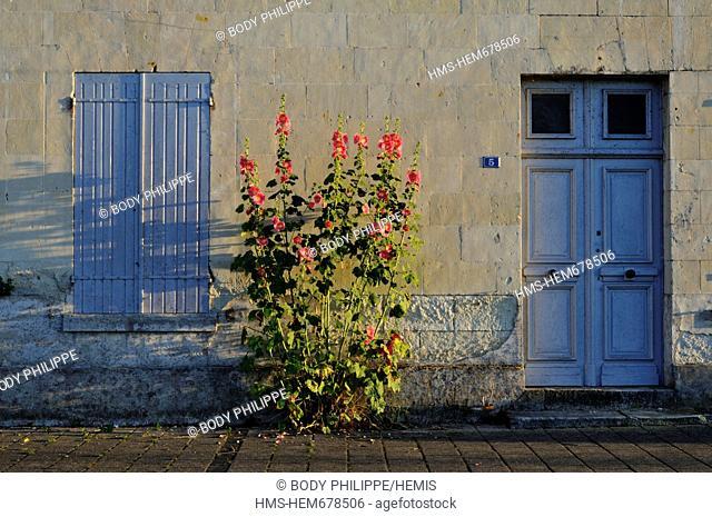 France, Maine et Loire, Loire Valley listed as World Heritage by UNESCO, Montsoreau, labelled Les Plus Beaux Villages de France The Most Beautiful Villages of...