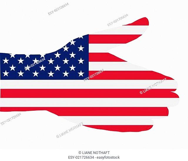 Hand reichen in Amerika
