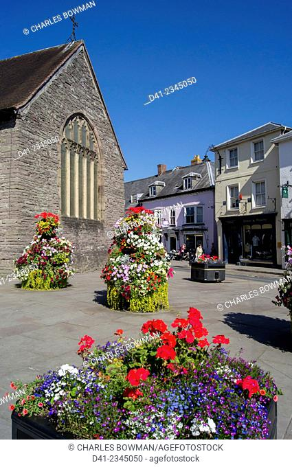 UK, Wales, Powys, Brecon town