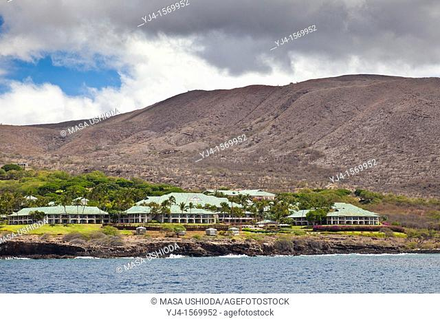 Four Seasons Resort at Manele Bay, Hulopoe Bay, South Lana'i, Lana'i aka Pineapple Island because of its past as an island-wide pineapple plantation of Dole