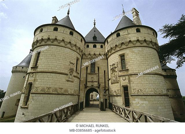 France, Touraine, Chaumont-sur-Loire, renaissance-palace, Europe, west-France, culture, sight, landmarks, architecture, buildings, construction, palace, castle