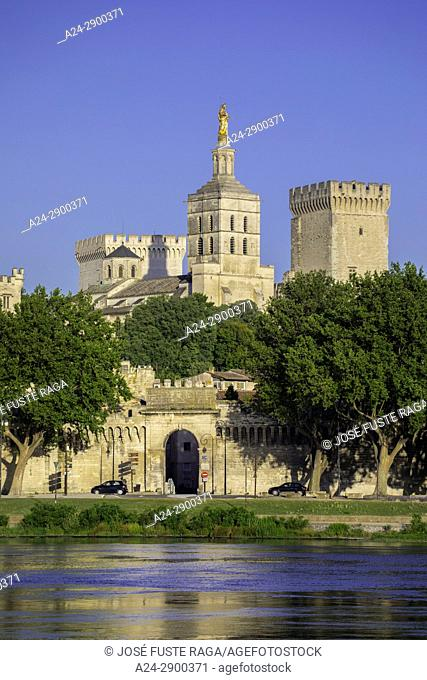 France, Provence region, Avignon city, the Popes Palace , W. H. , St. ,Rhone river,