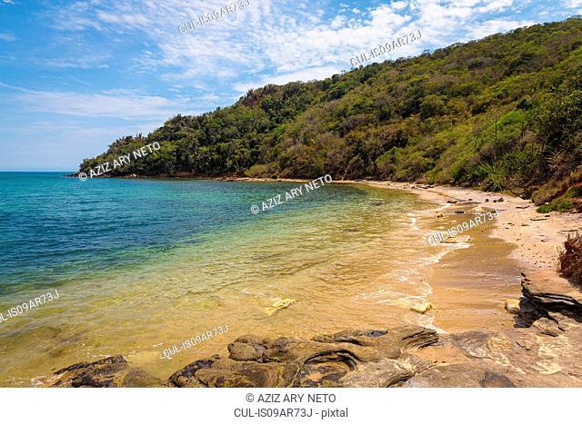 View of coast, Tartaruga, Buzios, Rio de Janeiro, Brazil