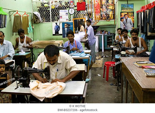 workers at a tailoring, India, Andaman Islands, Port Blair