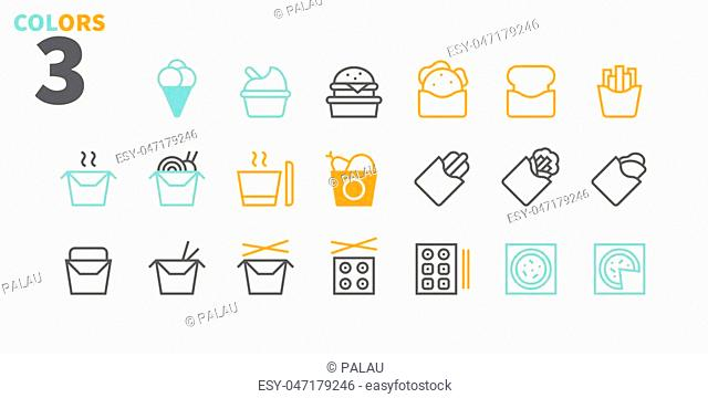 Take Out UI Pixel Perfect Well-crafted Vector Thin Line Icons 48x48 Ready for 24x24 Grid for Web Graphics and Apps with Editable Stroke