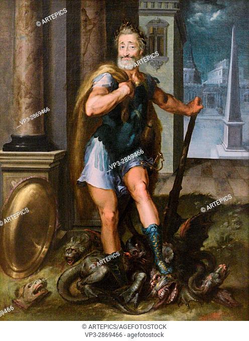 Toussaint Dubreuil Workshop - Portrait d' Henri IV en Hercule Terrassant l'Hydre de Lerne - Louvre Museum Paris