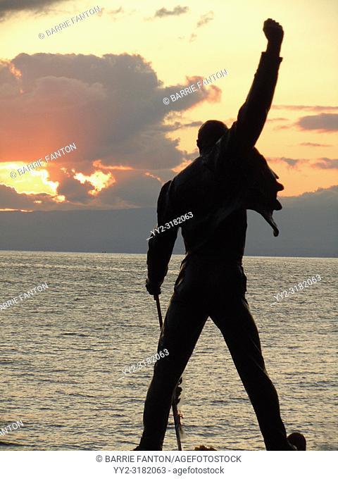 Statue of Freddie Mercury, Montreux, Switzerland