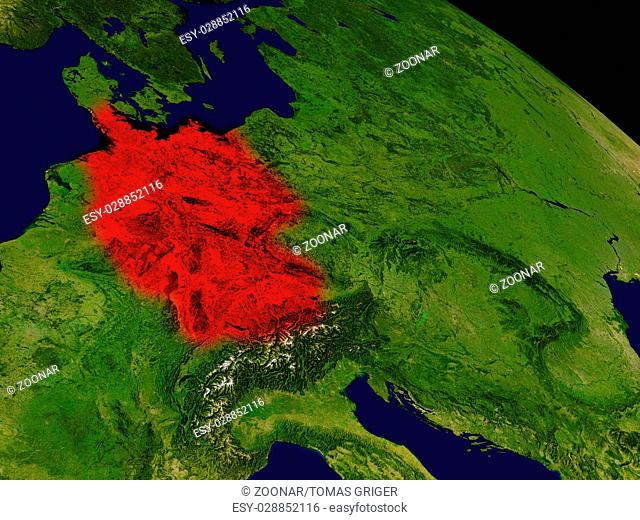 Germany from space