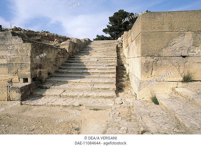 Greece - Crete - Phaistos. Palace. Staircase