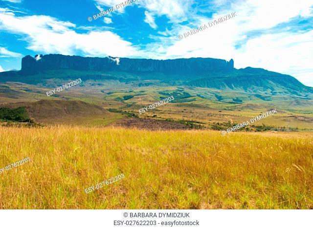 Roraima table mountain , Great Savanna, Canaima National Park, Venezuela