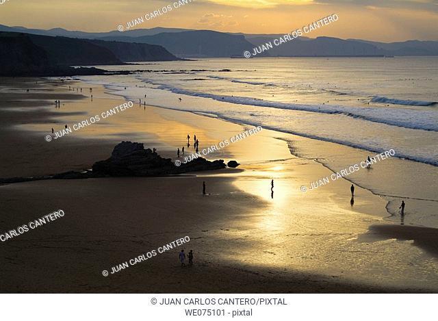 Beach in Sopelana. Biscay. Euskadi. Spain