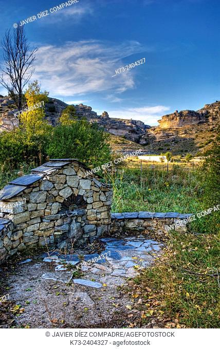 Fountain. Sierra de Pela y Laguna de Somolinos Natural Monument. Somolinos. Guadalajara Province. Castilla-La Mancha. Spain