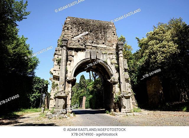 Rome. Italy. Arch of Drusus. Arco di Druso