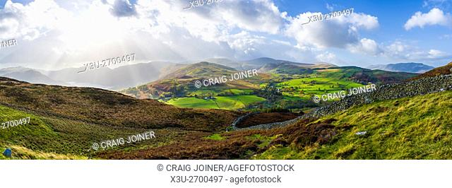 View over Watermillock Common towards Matterdale Common and Great Dodd from Gowbarrow Fell in the Lake District National Park
