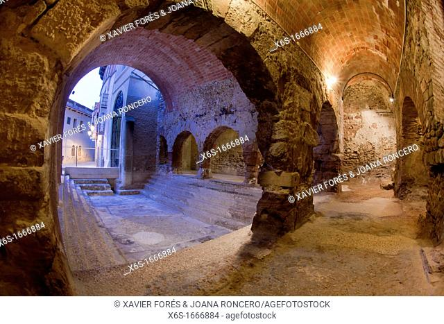 Roman thermal baths in Caldes de Montbui, Barcelona, Spain