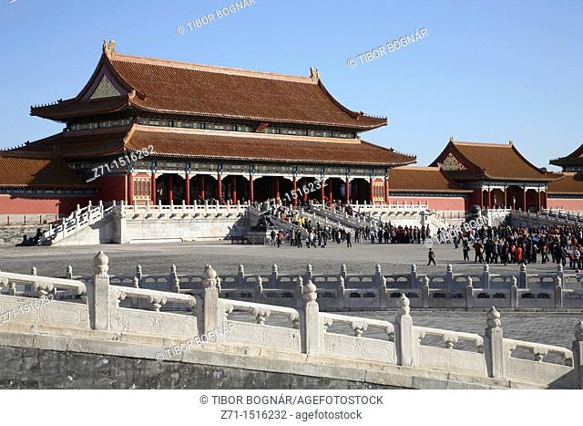 China, Beijing, Forbidden City, Supreme Harmony Gate
