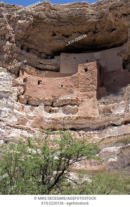 Ancient Native American cliff dwelling in Northern Arizona called Montezuma Castle
