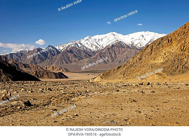 snow capped mountains ladakh jammu & kashmir India Asia