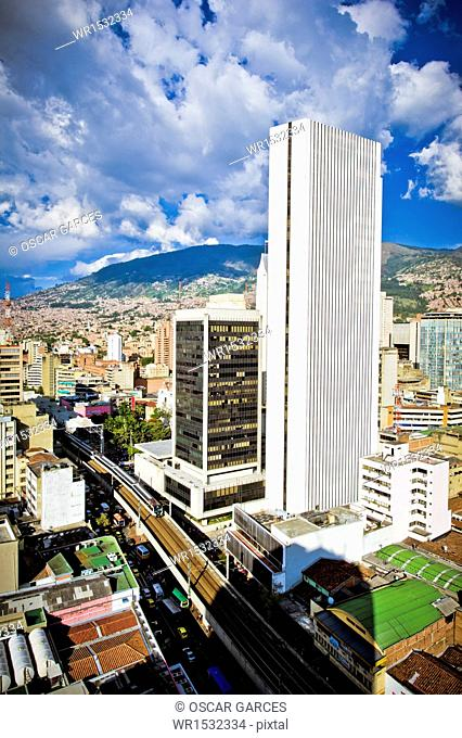Panoramic of the City of Medellin, Antioquia, Colombia