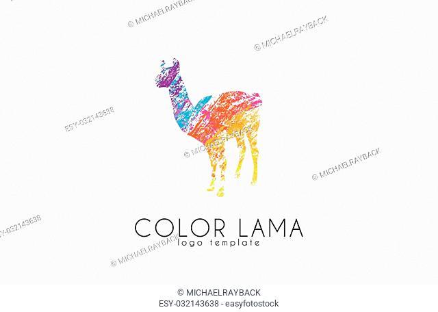 Lama logo. Color lama logo design. Creative logo