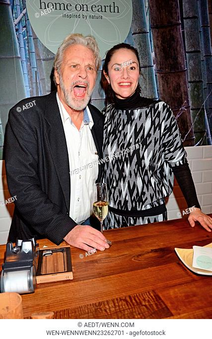 Celebrities attend the opening of Home on Earth store at Hackesche Hoefe Featuring: Peter Sattmann, Antonia Feuerstein Where: Berlin