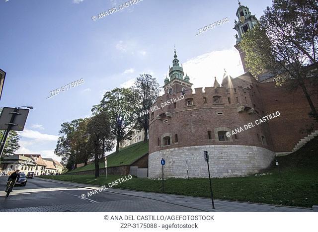 KRAKOW POLAND ON SEPTEMBER 25, 2018: Wawel castle in Krakow Poland