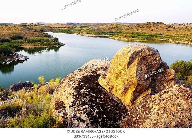 El Castro reservoir, Algodor river. Castile-La Mancha. Spain