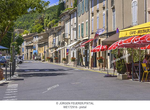 street of Banon, Provence, France, department Alpes-de-Haute-Provence