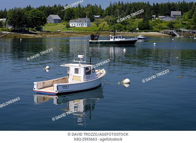 Fishing boats, Port Clyde Maine
