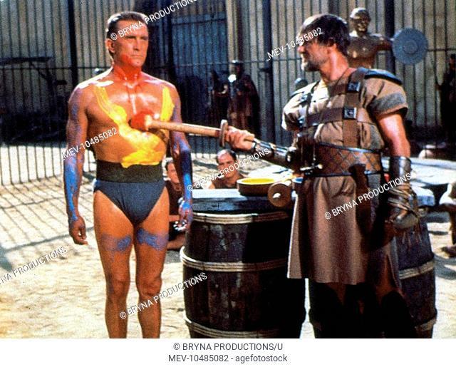 SPARTACUS KIRK DOUGLAS as Spartacus, CHARLES MCGRAW