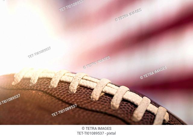 Close-up of American football