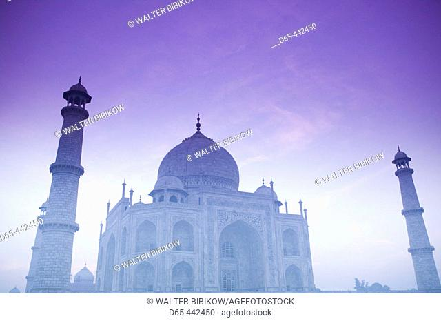 Taj Mahal. Dawn with Fog. Agra. Uttar Pradesh. India