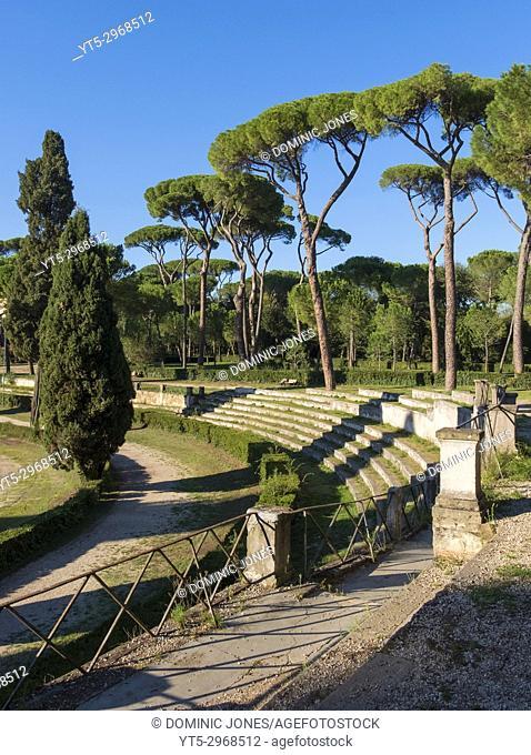 The equestrian ring at Piazza di Spagna, Villa Borghese Gardens, Rome, Italy, Europe