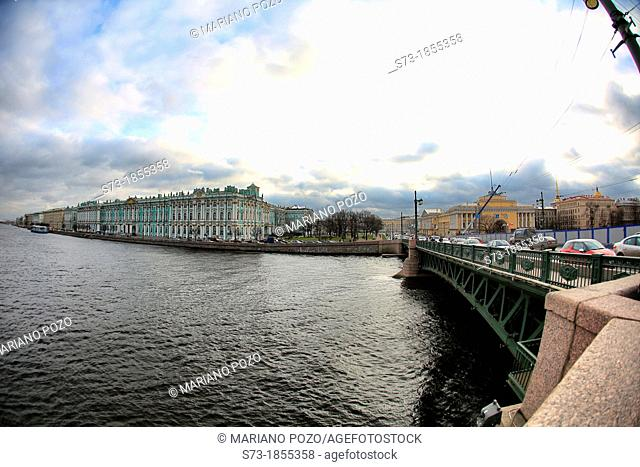 Winter Palace and Neva river St Petersburg, Russia